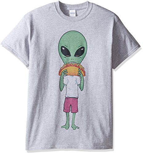 Freeze Men's Taco Alien T-Shirt, Sport Grey, X-Large (Aliens Soft T-shirt)