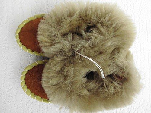 LAMMFELL Warme HAUSSCHUHE Gr.24 NEU, Schaffell/-leder (Made in Poland 3-83-4A)