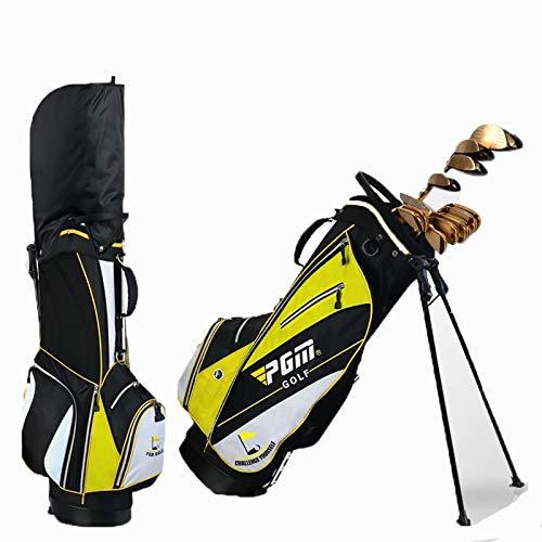ゴルフガンバッグ-、防水ナイロン材料、14肥厚独立したソケット、ブラケット付き、男性と女性のために適したゴルフプロスポーツガンバッグ Yellow A A Yellow B07Q316B6C B07Q316B6C, 小山町:566e607e --- lagunaspadxb.com