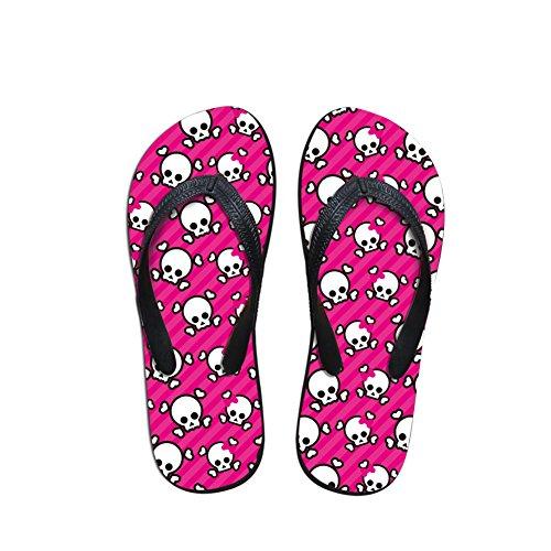 För U Designar Snygga Lätta Womens Mens Personlig Galax V Flip Flops Pink-2