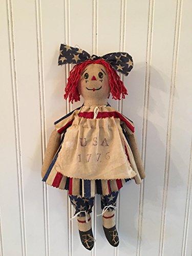 Primitive Americana Patriotic Raggedy Doll