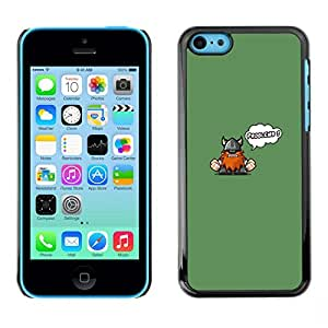 // PHONE CASE GIFT // Duro Estuche protector PC Cáscara Plástico Carcasa Funda Hard Protective Case for iPhone 5C / Funny Cute Viking - Problems /