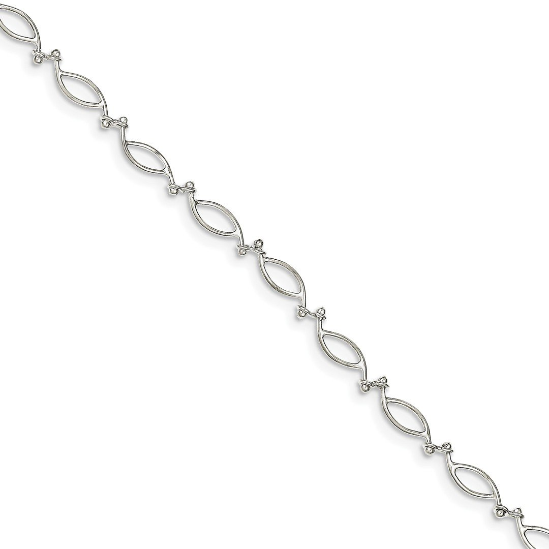 Ankle Bracelet Foot Jewelry Anklet - ICE CARATS 925 Sterling Silver 10 Inch Anklet Ankle Beach Chain Bracelet Link Fine Jewelry Ideal Gifts For Women Gift Set From Heart IceCarats 1525122368188329137