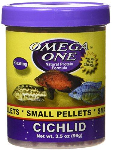 OMEGA One Super Color Cichlid Pellet Floating Small 3.5oz