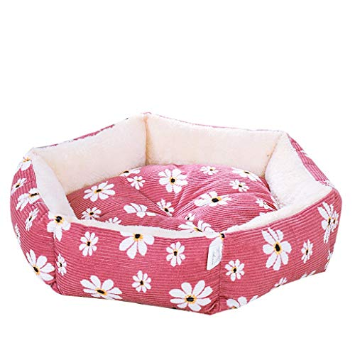 JQjian Warming Pet Bed Small Medium Large Dog Cat Bed Memory Foam Comfortable Ultra Soft All Season Luxury Cat & Dog Bed (L, Red)