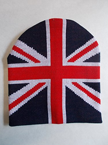 UJ Collection | Union Jack Style Beanie Hat | A Must-Have for Fall and Winter! (Hat Granny)