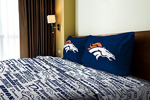 The Northwest Company Denver Broncos OFFICIAL NFL Twin Sheet Set – Anthem Series by The Northwest Company