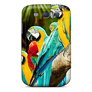 Colourful Parrots Case Compatible With Galaxy S3/ Hot Protection Case by Maris's Diary