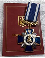 Blue Cross Merit Chernobyl Liquidator Disaster USSR Soviet Union Russian Ukrainian Nuclear Tragedy ecological catastrophy medal
