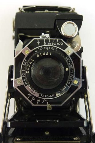 Kodak Bimat Junior Six-20 Series II antique folding camera (Kodak 6-20)