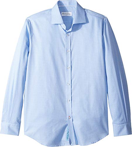(Robert Graham Mens Edmundo Check Long Sleeve Dress Shirt Blue 16.5 (LG))