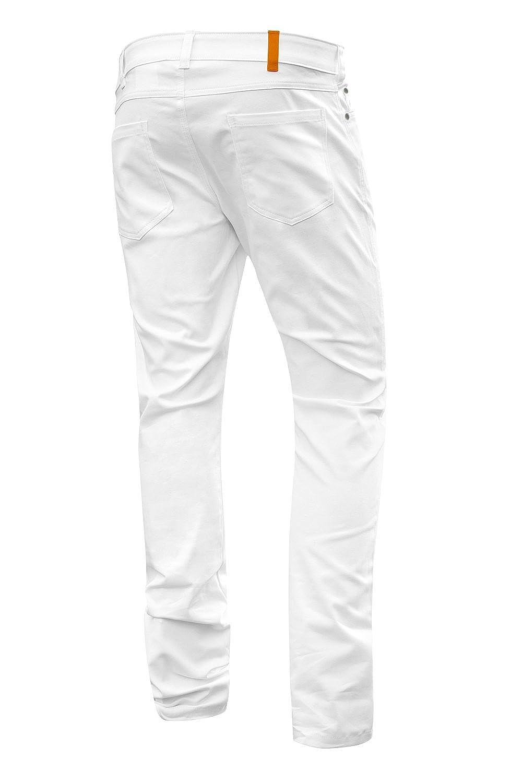 Pantalones Doctor Enfermera Hecho En La Ue Strongant Milano Pantalones Elasticos Hombre Blanco De 5 De Bolsillo De Algodon Estilo Jeans 260 Gm Hosteleria Pantalones De Cocinero