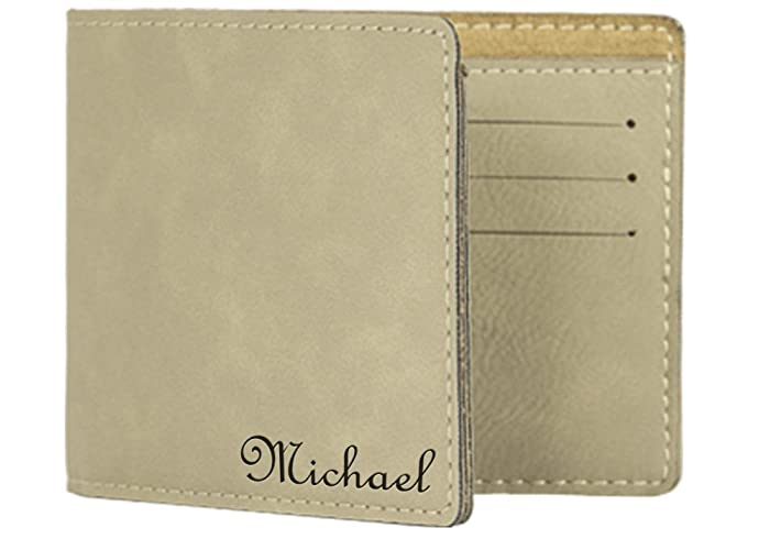 Engraved Men's Vegan Leather Wallet, Personalized Wallets for Men - Fathers  Day Gift for Dad, F20