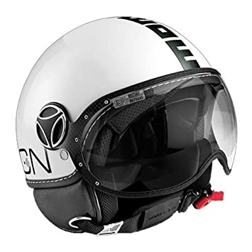 Casco Momo Design Fighter blanco brillante texto negro Talla XL Idea regalo