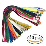 zipper for sewing - Mmei 40 pcs Nylon Invisible Zippers for Tailor Sewer Sewing Craft Crafter's Special 20 Inch 20 Colors (2 pcs per color)