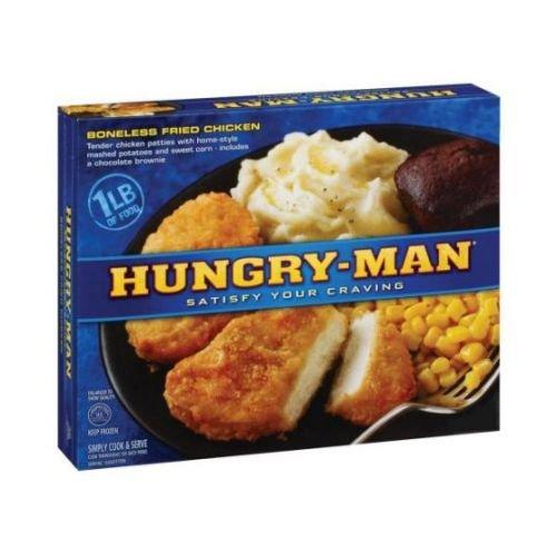 Hungry Man Boneless Fried Chicken, 15.5 Ounce -- 8 per case. (Fried Chicken Dinner)