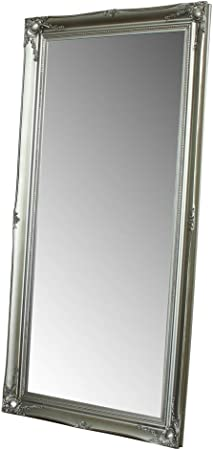 Melody Maison Large Silver Ornate Wall Floor Mirror 158cm X 78cm Amazon Co Uk Kitchen Home