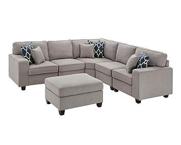 Superb Amazon Com Lilola Sonoma 6 Piece Modular Sectional Sofa Machost Co Dining Chair Design Ideas Machostcouk