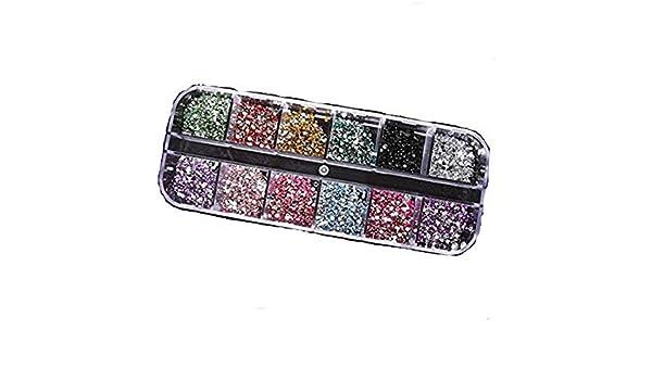 Go_believe 3000 aplicaciones de diamantes de imitación para decorar uñas postizas naturales o de gel, resistente a los rayos UV: Amazon.es: Belleza