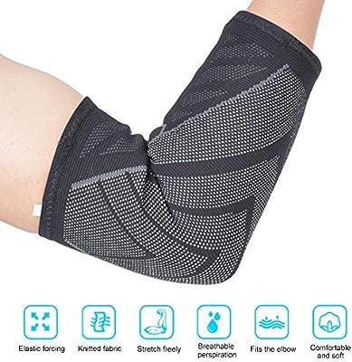 Soporte para el Codo, Soporte elástico para el Codo Deportivo, Tejido de Nailon para Fitness en casa(S Code Single Pack): Amazon.es: Deportes y aire libre