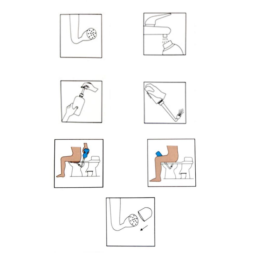 wiederverwendbar manuelle Druck-Enemas f/ür Douche Healifty Analreinigungsset f/ür Vaginaldusche Wasser Kaffee Vagina-Reinigung Dickdarm