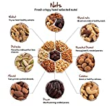 Nut Cravings Gourmet Nut Extra-Large Holiday Christmas Gift Tray with Striking Presentation - 7-Section Holiday or Anytime Assorted Nuts Gift Basket