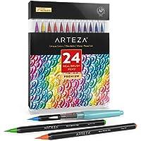 24-Count Arteza Watercolor Painting Real Brush Pens