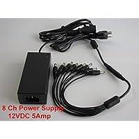 8 Channel Camera 12 Vdc 5Amp Power Supply & Splitter