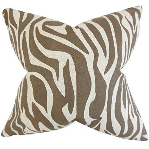 The枕コレクションDari Zebra印刷枕、ブラウン   B00R9F7MDM
