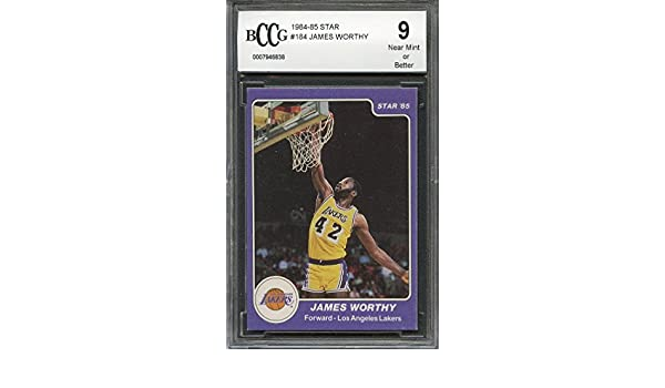 d3bafe31a1e Amazon.com  1984-85 star  184 JAMES WORTHY los angeles lakers (50-50  CENTERED) BGS BCCG 9 Graded Card  Collectibles   Fine Art