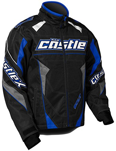 Castle X Racewear Bolt G4 Youth Boys Snowmobile Jacket Blue - Apparel Castle Snow