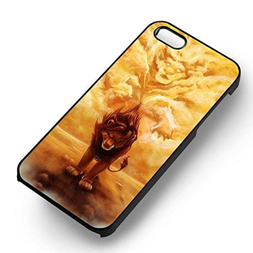 Simba Lion Cartoon pour Coque Iphone 6 et Coque Iphone 6s Case (Noir Boîtier en plastique dur) E3H4JS