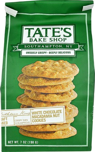 Tate's Bake Shop Cookies White Chocolate Chip Macadamia Nut -- 7 oz - 2 pc ()