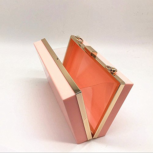 Acrylic Clutch Solid New Evening Women Wallet Casual Bag Party Brand Pink handbag Hard Fashion Woman Shoulder 8R4SfS