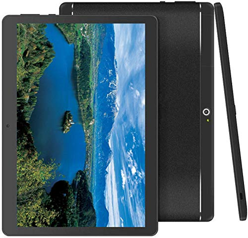 "Foren-Tek Android Tablet with SIM Card Slot Unlocked 10 inch -10.1"" IPS Screen Octa Core 4GB RAM 64GB ROM 3G Phablet with WiFi GPS Bluetooth Tablet (Black)"