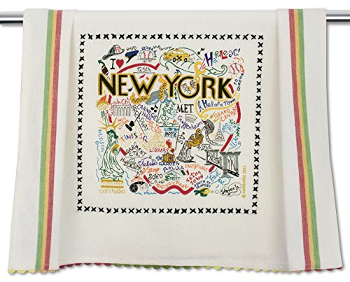 Catstudio New York City Dish Towel | Featuring Original Artwork Celebrating The Sights, Landmarks and History of The Big Apple ()