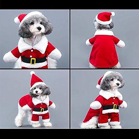 SUNTRADE Costume de No/ël pour Animal Domestique Costume de P/ère No/ël pour Animal Domestique