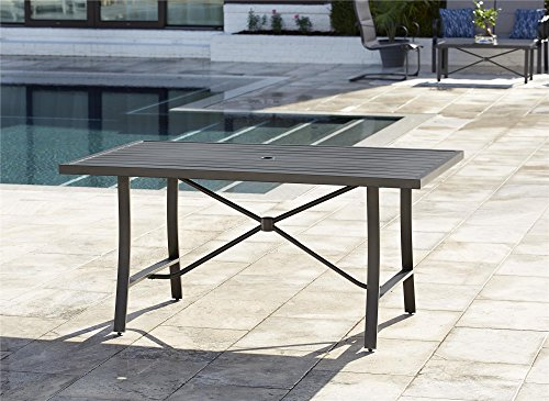 - COSCO 88409BRGE Outdoor Living SMARTCONNECT Dining Patio Table, Charcoal Gray