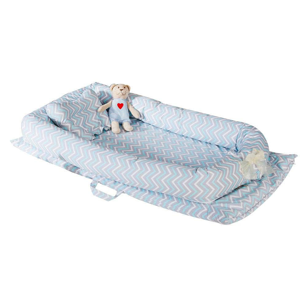 Umiwe Baby Nest Pod 100/% Organic Cotton Baby Bassinet Portable Travel Crib Bedding Breathable and Hypoallergenic Toddler Newborn Co-sleeping Lounger Bed for 0-24 Months 8 Color