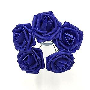 50 pcs Artificial Flowers Foam Roses for Bridal Bouquets Wedding Centerpieces Kissing Balls 4