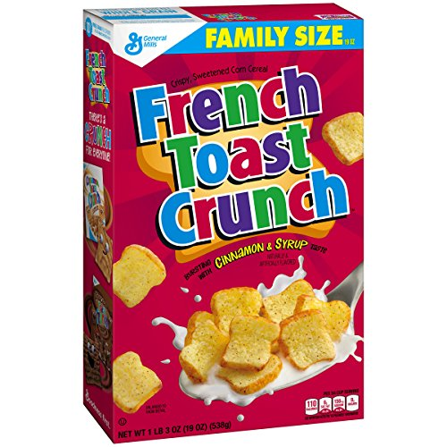 French Toast Crunch Cereal, 19 oz Family Size Box (Pack of 14) (Best Cinnamon French Toast)