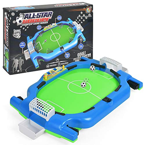 LiPing 面白い子供用大人用テーブルサッカー ミニインタラクティブおもちゃ フープネットボールポンププレイセット 子供用 遊び 自宅 オフィス デスクトップ どこでも遊べます A マルチカラー LiPing