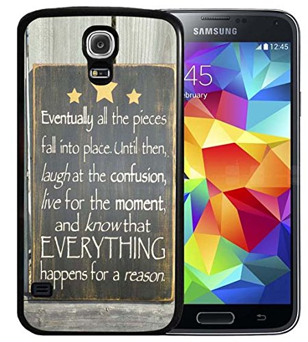 S4 Case Samsung Galaxy S4 Black Cover Tpu Rubber Gel   Bible Verses And Know That Everything Happens For A Reason