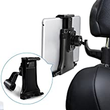 "Tablet Mount EC Technology iPad Headrest Mount 360° Degree Adjustable Rotating Headrest Car Seat Mount Holder for iPad, Samsung, and 7"" to 10"" Tablets- Black"