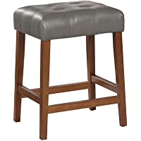 Kinfine Faux Leather Square Counter Stool