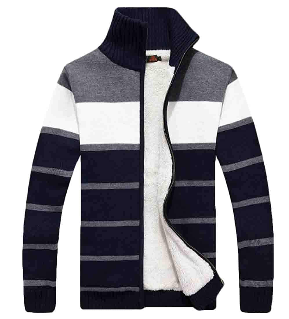 GAGA Mne Fashion Winter Casual Cotton Tops Thicken Cardigan Warm Knitted Sweater
