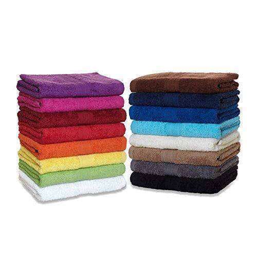 Frottier Handtuch-Serie - in 6 Größen und 16 Farben für Sie verfügbar, Gästetuch (30x50cm) in Orchidee