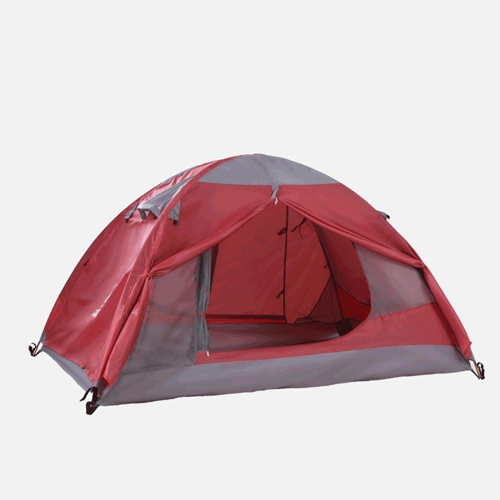 TLMY Outdoor Vier Jahreszeiten Doppel-Doppel-Berg Camping Camping Wasserdichtes Zelt Zelte (Farbe : ROT)