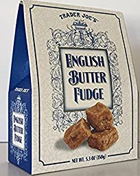 Trader Joe\'s English Butter Fudge Made in England 5.3 Ounces