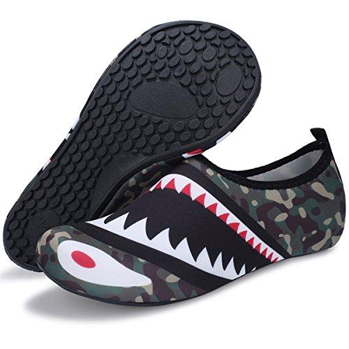 Barerun Aqua Shoes Breathable Slip-on Sneakers for Running Pool Beach Women/Men Green 12-13 US Men by Barerun